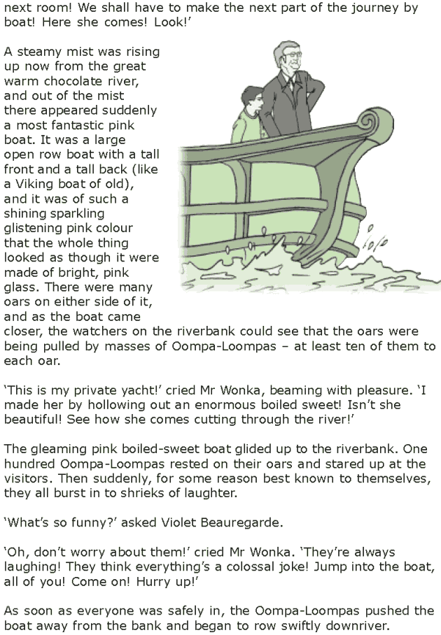 Grade 7 Reading Lesson 4 Fantasy - The Chocolate Room (4)