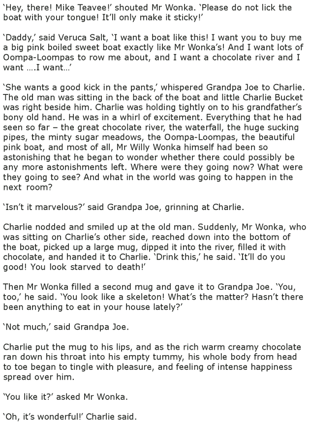 Grade 7 Reading Lesson 4 Fantasy - The Chocolate Room (5)