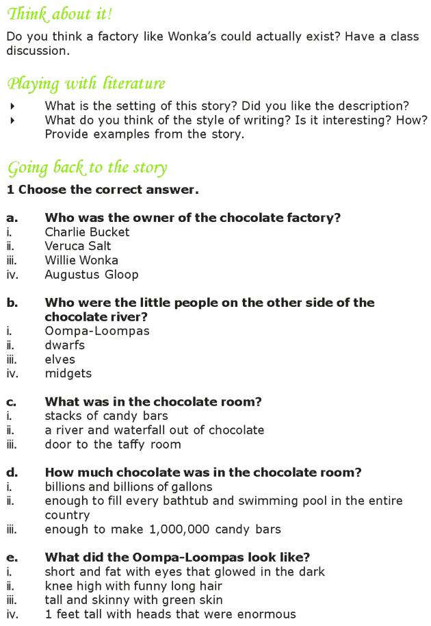 Grade 7 Reading Lesson 4 Fantasy - The Chocolate Room (7)