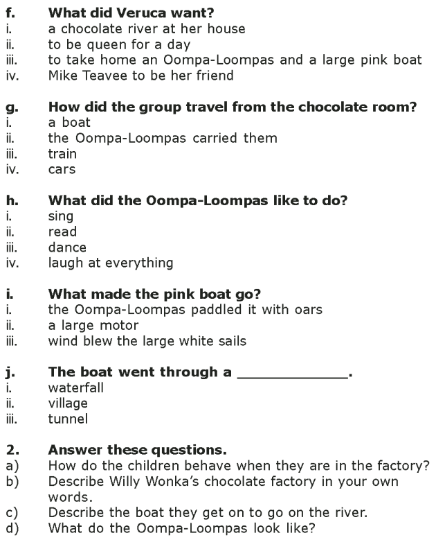 Grade 7 Reading Lesson 4 Fantasy - The Chocolate Room (8)