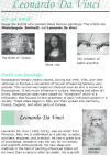 Grade 8 Reading Lesson 11 Biographies - Leonardo Da Vinci