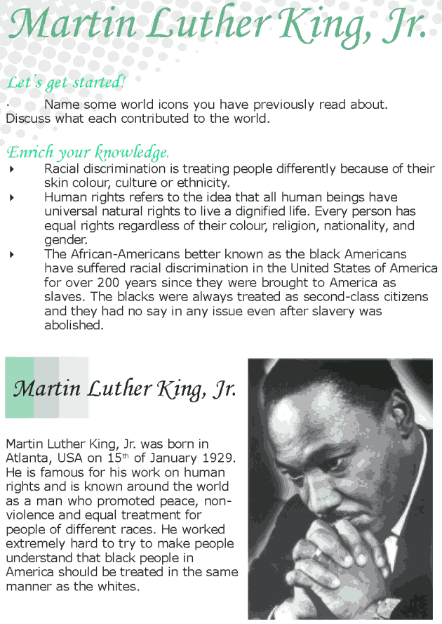 Grade 8 Reading Lesson 12 Biographies - Martin Luther King Jr
