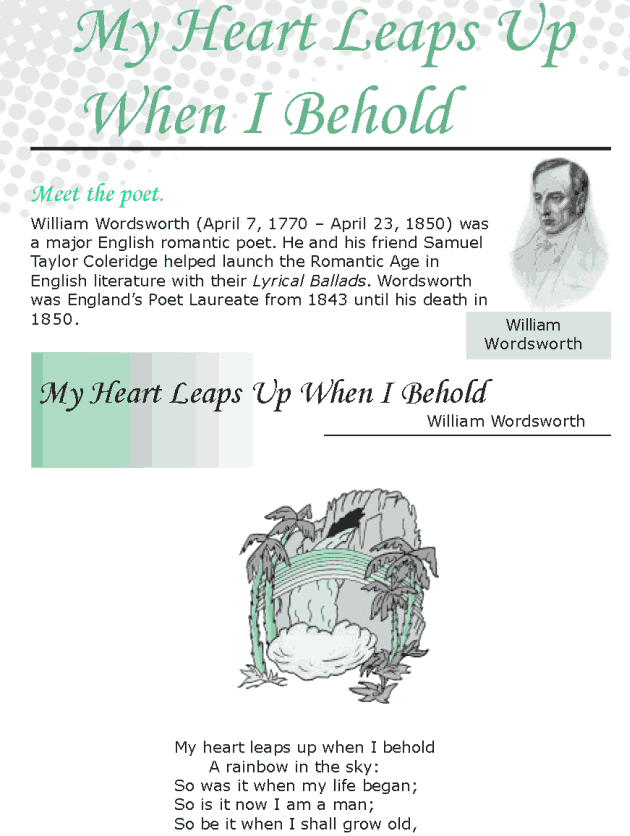 Grade 8 Reading Lesson 16 Poetry - My Heart Leaps Up When I Behold