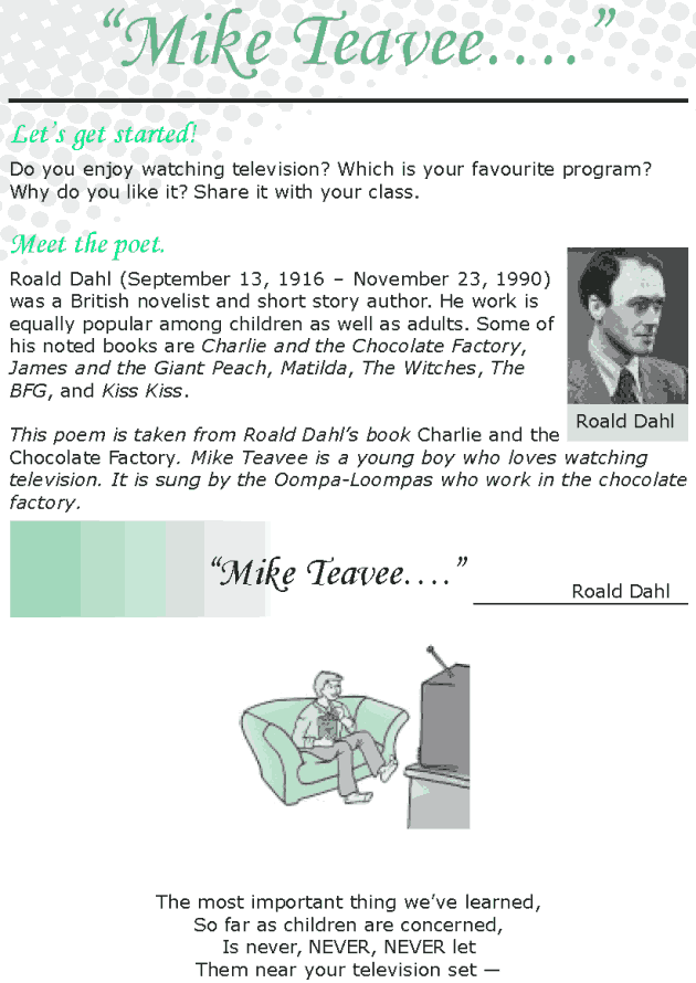 Grade 8 Reading Lesson 22 Poetry - Mike Teavee