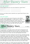 Grade 8 Reading Lesson 25 Short Stories - After Twenty Years