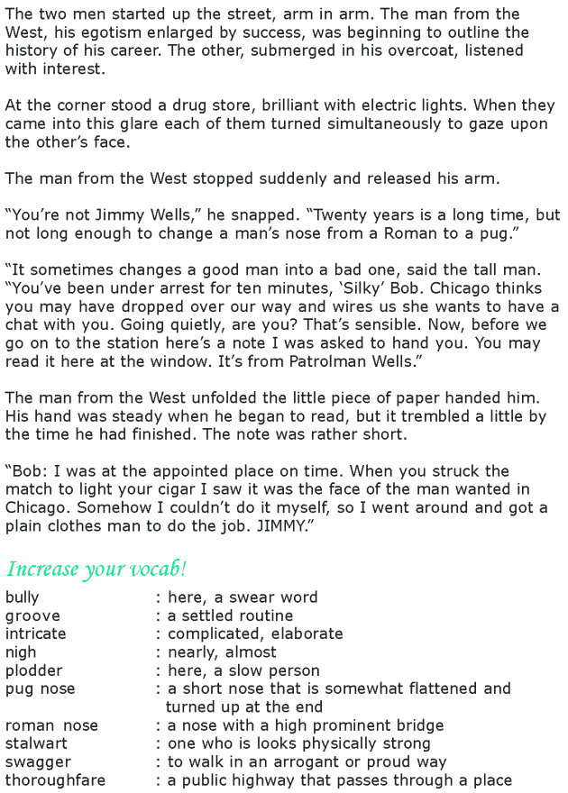 Grade 8 Reading Lesson 25 Short Stories - After Twenty Years (4)