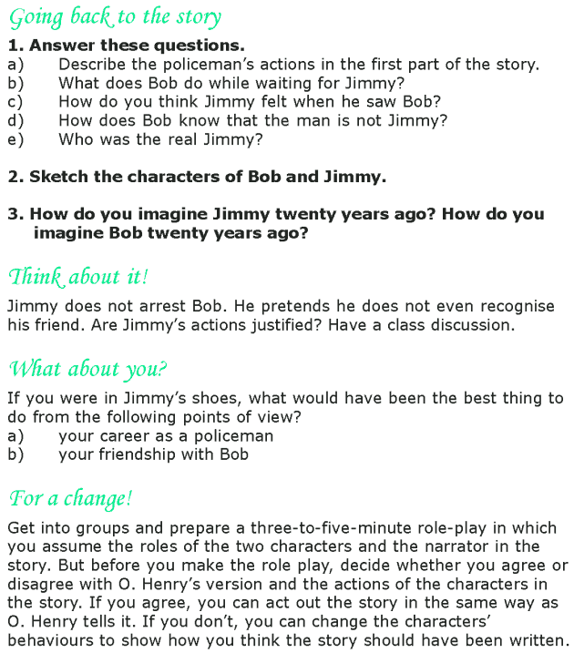 Grade 8 Reading Lesson 25 Short Stories - After Twenty Years (6)