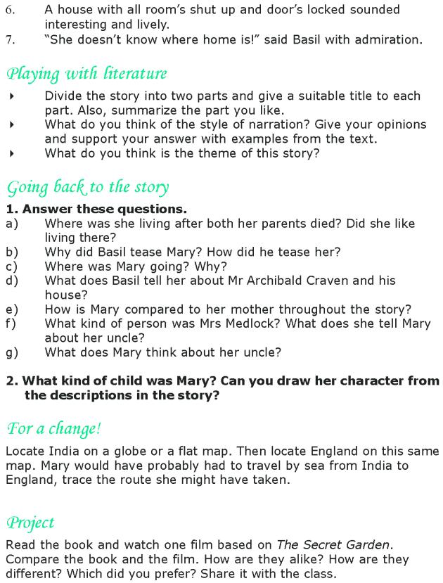 Grade 8 Reading Lesson 3 Classics - The Secret Garden (5)