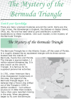 Grade 8 Reading Lesson 5 Nonfiction - The Mystery Of The Bermuda Triangle