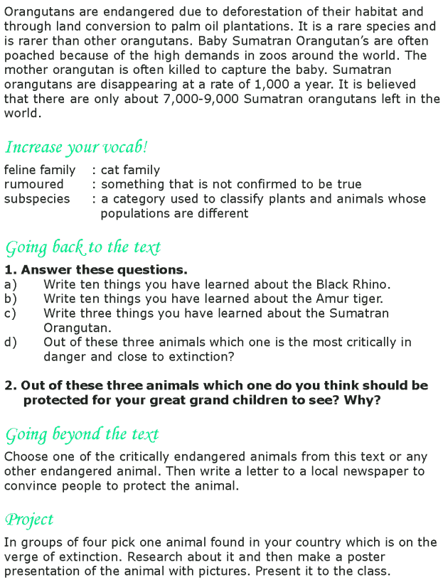 Grade 8 Reading Lesson 6 Nonfiction - Critically Endangered Animals (3)