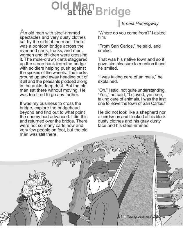Grade 9 Reading Lesson 10 Short Stories - Old Man at the Bridge (1)