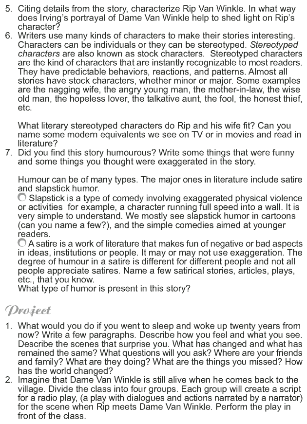 Grade 9 Reading Lesson 11 Short Stories - Rip Van Winkle (10)