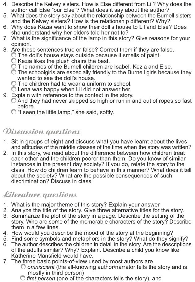 Grade 9 Reading Lesson 12 Short Stories - The Dolls House (9)