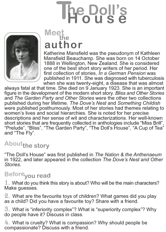Grade 9 Reading Lesson 12 Short Stories - The Dolls House