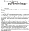Grade 9 Reading Lesson 18 Myth and Folklore - Prometheus the Fire Bringer
