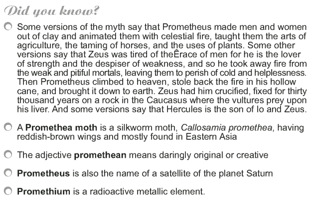 Grade 9 Reading Lesson 18 Myth and Folklore - Prometheus the Fire Bringer (6)