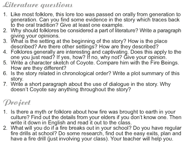 Grade 9 Reading Lesson 19 Myth and Folklore - How Coyote Stole Fire (4)