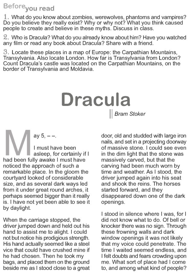 Grade 9 Reading Lesson 21 Classics - Dracula (1)