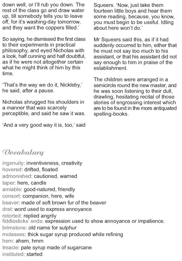 Grade 9 Reading Lesson 22 Classics - Nicholas Nickleby (7)