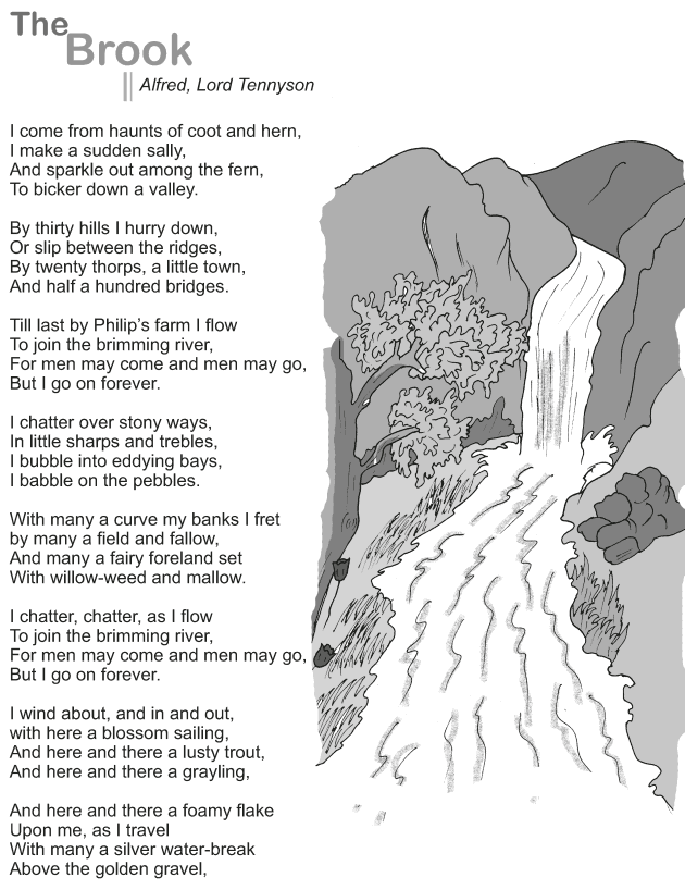 Grade 9 Reading Lesson 8 Poetry - The Brook (1)