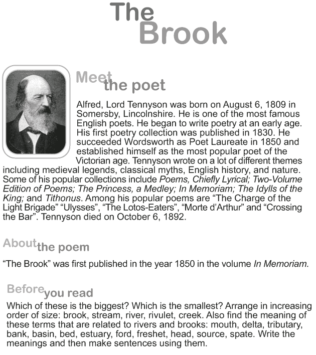 Grade 9 Reading Lesson 8 Poetry - The Brook